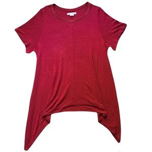 In Every Story… Muted Red Knit Tunic size 1X